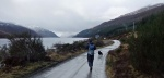 A good start - rain along Loch Ericht